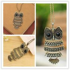 Vintage Retro Lady Women Girl Owl Long Chain Lovely Necklace  Pandent Great PG
