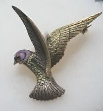 Beautiful Antique  Gold  & Enamel  Bird Brooch
