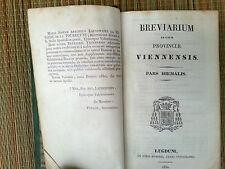 Livre religieux ancien, bréviaire, en Italien, tranche dorée,  année 1830  be