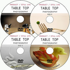 LEARN PRODUCT/STILL LIFE/ TABLE TOP DIGITAL PHOTOGRAPHY VIDEO TUTORIALS ON 4 DVD