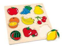 Wooden Fruit Inset  Puzzle - 9 pieces