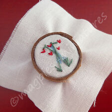 Doll House 12th Scale : Floral Embroidery on Ring