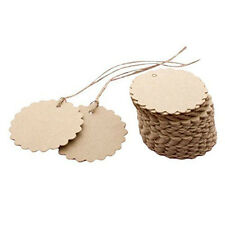 50Pcs/bag Flower Round Kraft Paper Hang Tags Wedding Party Label Gift Cards