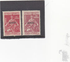 AZORES SET POSTAL TAX AND TELEGRAMS (1915 - 24)  MH (*)