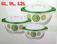 Gran 3pc Frio Caliente Ronda aislados Cazuela Hot Pot Set calientaplatos Verde Pro