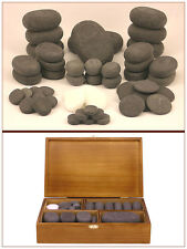 MassageMaster HOT/COLD STONE MASSAGE SET: 50 Basalt/Marble Stones