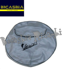 0534 - COPRIRUOTA GRIGIO CON SCRITTA NERA VESPA 125 150 200 PX ARCOBALENO - T5