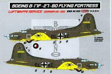 KORA Models PAINT MASKS 1/48 BOEING B-17F FLYING FORTRESS IN LUFTWAFFE SERVICE