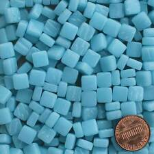 8mm Mosaic Glass Tiles - 2 Ounces About 87 Tiles - Bright Phthalo Blue