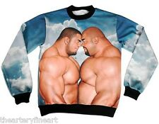 JIRAIYA x MASSIVE for Opening Ceremony 'Best Couple' Sweatshirt L Muscle Gay NEW