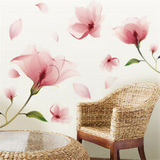Removable Pink Flower Wall Sticker Vinyl Mural Decals Home Art Living Room Decor
