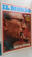 IL MONDO 1975 Commissario Calabresi Partito liberale Gava Wilson Bufalini Crisi