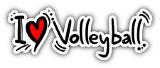 "I Love Volleyball Car Bumper Sticker Decal 8"" x 3"""