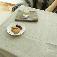 HBZ82 fabric linen cotton tablecloth beige dining kitchen table cloth cover