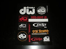 DW DRUMS ORIGINAL 9 PC STICKERS FLAG SET NICE