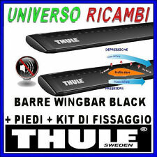 BARRE THULE WINGBAR BLACK KIT FIAT Croma, 5p, SW, 05- , con barre longitudinali