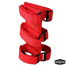 Red 3 LB Fire Extinguisher Holder for Jeep Wrangler & CJ Ford Off-Road Roll Cage