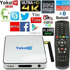 FULLY LOADED 2+32GB S912 Octa Core Android 6.0 Smart 4K TV BOX 17.0 3D