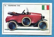 STORIA DELL'AUTOMOBILE Panini Figurina-Sticker n. 74 - TEMPERINO 1918 -Rec