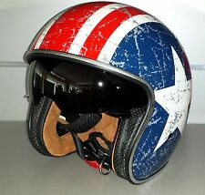 CASCO ORIGINE SPRINT CON VISIERINO PARASOLE REBEL STAR TG M