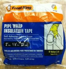 "Frost King 2""x15' Self Adhesive Foil & Foam Pipe Wrap Insulation Tape  FV15H"