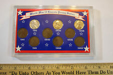 World War 2 WWII Lincoln Cent Lot with Display 43,44,45 PDS LOOK ! JSH