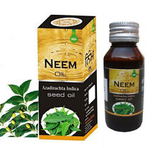 2 x Pure Genuine Neem Cold Pressed Oil 60 ml (2 Oz) Azadirachta Indica Seed Oil