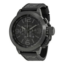 TW Steel TW821R All Black Chronograph PVD Stainless Steel Leather Watch