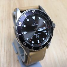 Bulova 98C61 Marine Star Mens 200m Diver Analog Quartz Watch Hours~New Battery