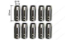 10 x Gasdüsen NW15 konisch MB25 TBI250 Ergolpus25 MIG/MAG Brenner Gasdüse