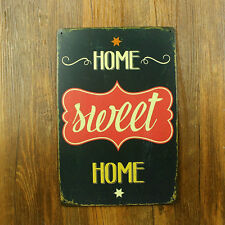 HOME SWEET HOME Nice cosy Quote Tin Sign Wall Decor Indoor Outdoor House Display