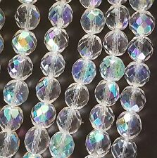 10 Crystal AB Czech Fire Polish Glass Beads 12mm  FREE PRIORITY POST AUST