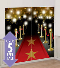HOLLYWOOD RED CARPET movie night SCENE SETTER party wall decor kit  paparazzi