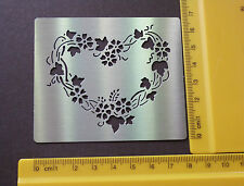 Stainless/Steel/stencil/Oblong/Heart/Floral/Emboss/Valentine/LOVE/Wedding