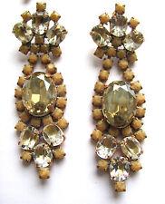 BEL VINTAGE Jewelry strass buchi alle orecchie Orecchini ORZO eccessivamente germinato. D 197