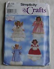 "Sewing Pattern Simplicity 8478 Shirley Botsford 18"" doll Clothes Angel Dress"
