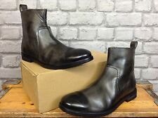 FRANK WRIGHT MENS UK 7 EU 41 BLACK DISTRESSED LEATHER TENBY BOOTS RRP £100