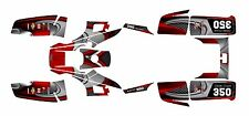Yamaha Warrior 350 Graphics Decal Sticker kit Free Custom Service #3737-Red