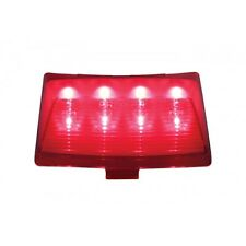 Harley Motorcycle Rear Fender Tip 8-LED Red Stop Brake Tail Light / Red Lens