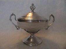 beautiful antique french guilloche silver 950 & crystal sugar bowl Debain