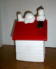SNOOPY ON DOG HOUSE COOKIE JAR  #247 - MADE BY McCOY FOR SEARS, ROEBUCK & CO.