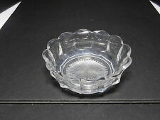 """Jefferson Krys-Tol Chippendale Scalloped Nappy Clear Crystal 4 5/8"""" T ca1907-20s"""