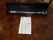 "ALLIED INTERNATIONAL 1/2"" DR. MICROMETER DIAL ADJUSTABLE TORQUE WRENCH W/CASE NR"