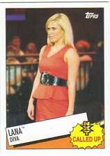 2015 Topps WWE Heritage Wrestling NXT Called Up Insert #25 Lana