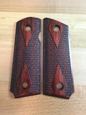 Altamont Grip - 1911 Compact Super Rosewood Slim Panel Checkered #419