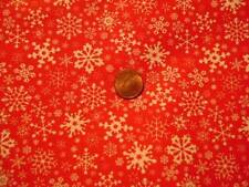 Red and White Fabric Snowflakes FQ Crafts Quilting Doll Clothes