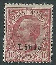 1912-15 LIBIA EFFIGIE 10 CENT MH * - K143