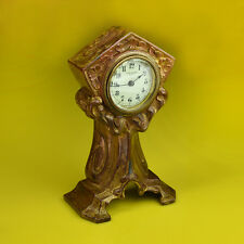 FANTASTIC WIND UP NEW HAVEN CARRIAGE CLOCK in BRASS, Antique Age c1890 USA Made