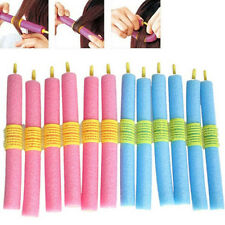 12pcs/set Soft Foam Anion Bendy Hair Rollers Curlers Cling for Beautiful Womens