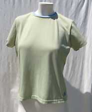 The North Face women's Green Stretch Knit Crew Neck T Shirt Top size M
